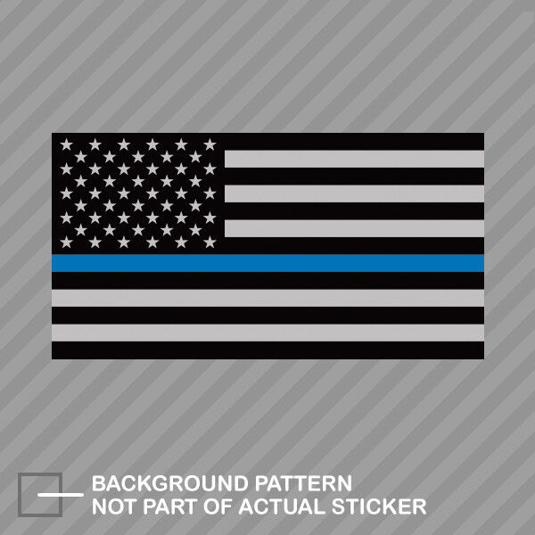"""2-5/"""" Thin Blue Line American Subdued Flag Decal Set USA Police Sticker RH"""