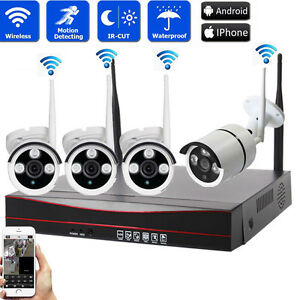 4CH-1080P-NVR-Outdoor-Waterproof-720P-HD-Wifi-IR-CUT-Camera-Home-Security-System