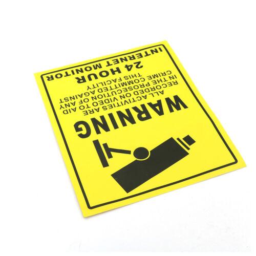 CCTV Security Camera System Warning Sign Sticker Decal Surveillance 200mm*250 C/&