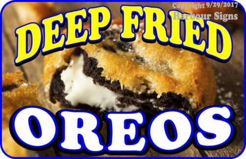 Deep Fried Oreos Choose Your Size DECAL Cookies Food Truck Concession Sticker