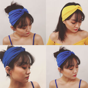 BE-BH-KF-Women-Solid-Color-Cross-Cotton-Cloth-Charming-Headband-Hair-Hoop-Hea
