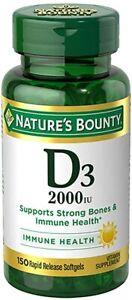 Vitamin D by Nature's Bounty, Supports Immune Health & Bone Health, 2000IU...