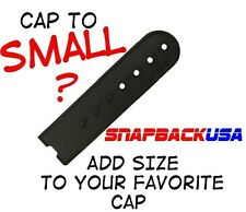 Snapback Cap, Hat Extension. Snap in and Go, add Size and Comfort, USA MADE