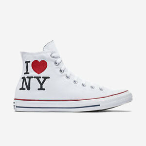 39e16497ab67 Converse Chuck Taylor All Star I Love NY White Red High Top 161184F ...