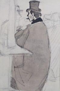 Jacques Villon (Según ) : Client Al Café Concierto - Grabado, 1959
