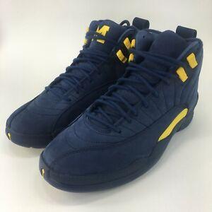 best service 5cd5f 8d5f1 Details about Air Jordan 12 Retro Michigan Basketball Shoes BQ3180-407 Size  11