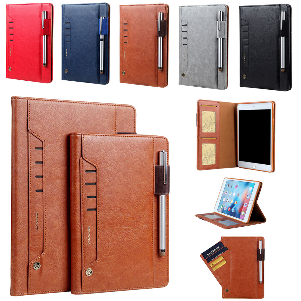 ForApple iPad mini Air Pro Smart Leather Flip Case Pen Holde