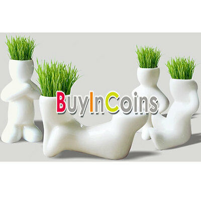 Magic Ceramic Grass Table Planting Baby Plants Porcelain four styles optional