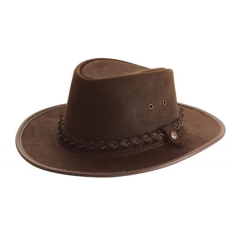 B.C.H Equestrian 'Bac Pac' Waterproof Waxed Cow Split Leather Competition Hat