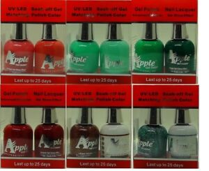 Apple-Soak-off-Gel-Lacquer-Matching-Color-DUO-Pick-Any-Color