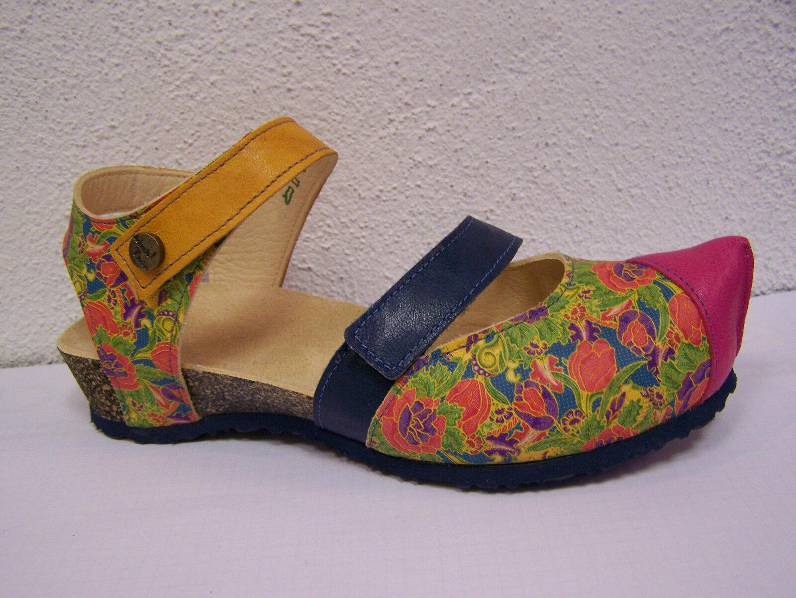 Think Kessy,  Pantolette fällt größer aus  Kessy, Blumenprint multicolor capra rustico 0a6c62
