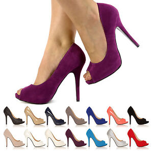 WOMEN-LADIES-NEW-COURT-SHOES-STILETTO-HIGH-HEELS-PEEP-TOE-SHOES-SIZE-3-8