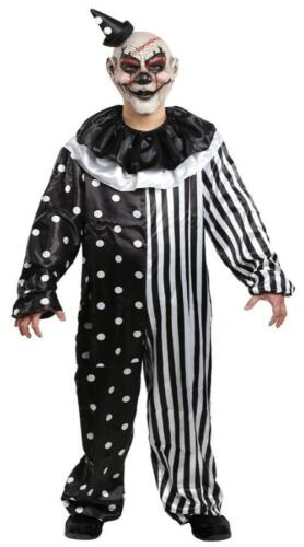 ADULT KILL JOY EVIL SCARY HARLEQUIN STYLE CLOWN COSTUME DRESS XL MR139009