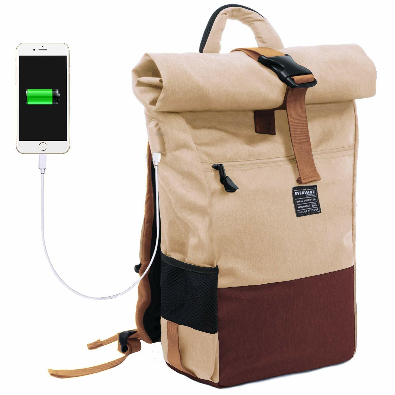 Laptop-Rucksack, wasserdichter DaSie- und Herren-Rucksack mit USB-Ladebuchse