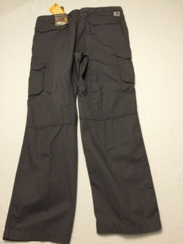 NWT Men/'s CARHARTT Relaxed Fit Tappen Cargo Rip-Stop Pant 101148 Gray 039 FORCE