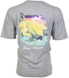TOMMY-BAHAMA-Mens-T-Shirt-SAILS-TEAM-Sailboat-Boating-GREY-Relax-Camp-XL-3XL-45