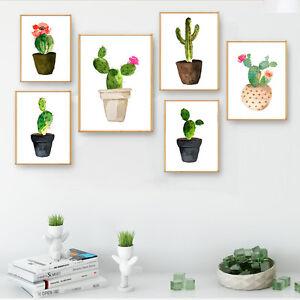 Landscape-Watercolor-Plants-Flower-Cactus-Decor-Canvas-Art-Poster-Prints