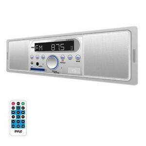 New-Marine-Bluetooth-In-Dash-Stereo-Radio-Headunit-Receiver-MP3-USB-SD-White