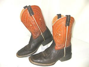 875badf06d4 Details about Ariat 4LR Boots Youth 1.5 Quick Draw 10010915 Faux Elephant  Print Square Toe