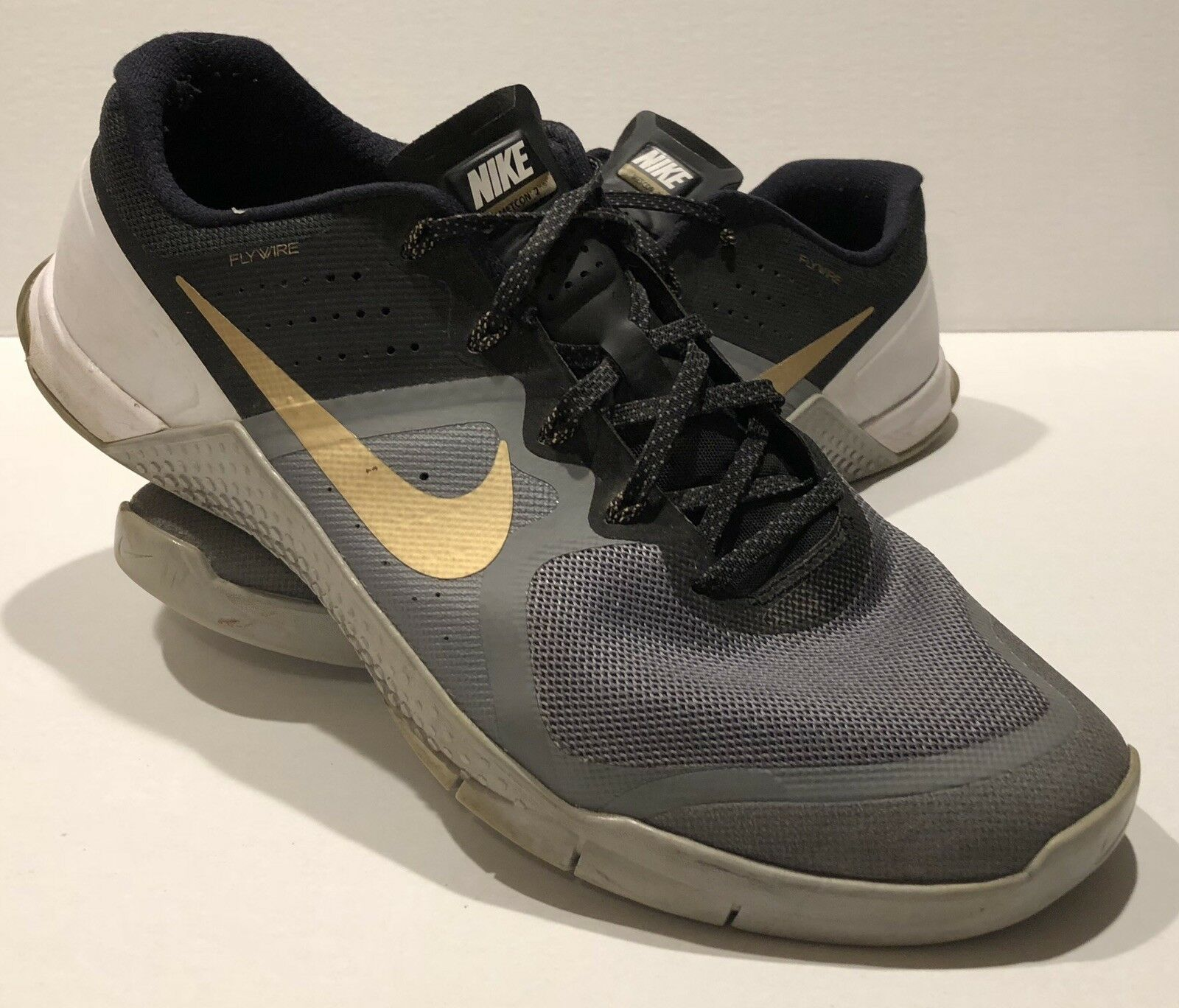 Nike Metcon 2 Flywire  Black And gold-Size 13