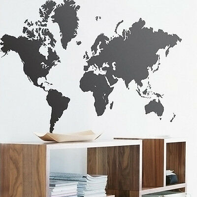 New World Map Wall Sticker Art Vinyl Decal Stickers Removable Mural Home Decor