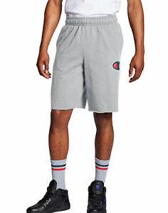 Fleece-Shorts-Champion-Men-039-s-Powerblend-C-Logo-Pockets-Black-Navy-Grey-10-Inseam