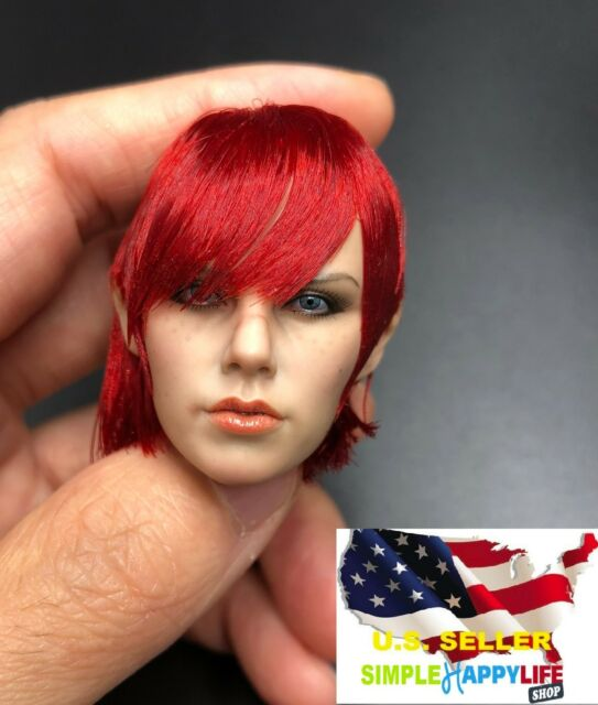 Authentic Phicen 1/6 female head Pale red hair PL2016-94 Painkiller Jane ❶USA❶