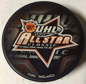 2007 UHL All-Star Game Hockey Puck Fort Wayne Komets