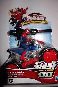 Marvel ultimate spiderman web warriors blast n go spiderman quad ebay - Quad spiderman ...