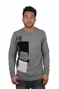 dope-couture-patched-grau-schwarz-crewneck-sweatshirt-langarm-pullover-shirt