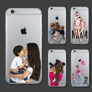 Cute-Cartoon-Bebe-Maman-Fille-Reine-Coque-souple-pour-iPhone-11-Pro-Max-XS-XR-8-7-6-6P
