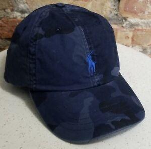 3330ba0726 Details about POLO RALPH LAUREN Men's Pony BLUE CAMO Baseball Cap Hat NWT