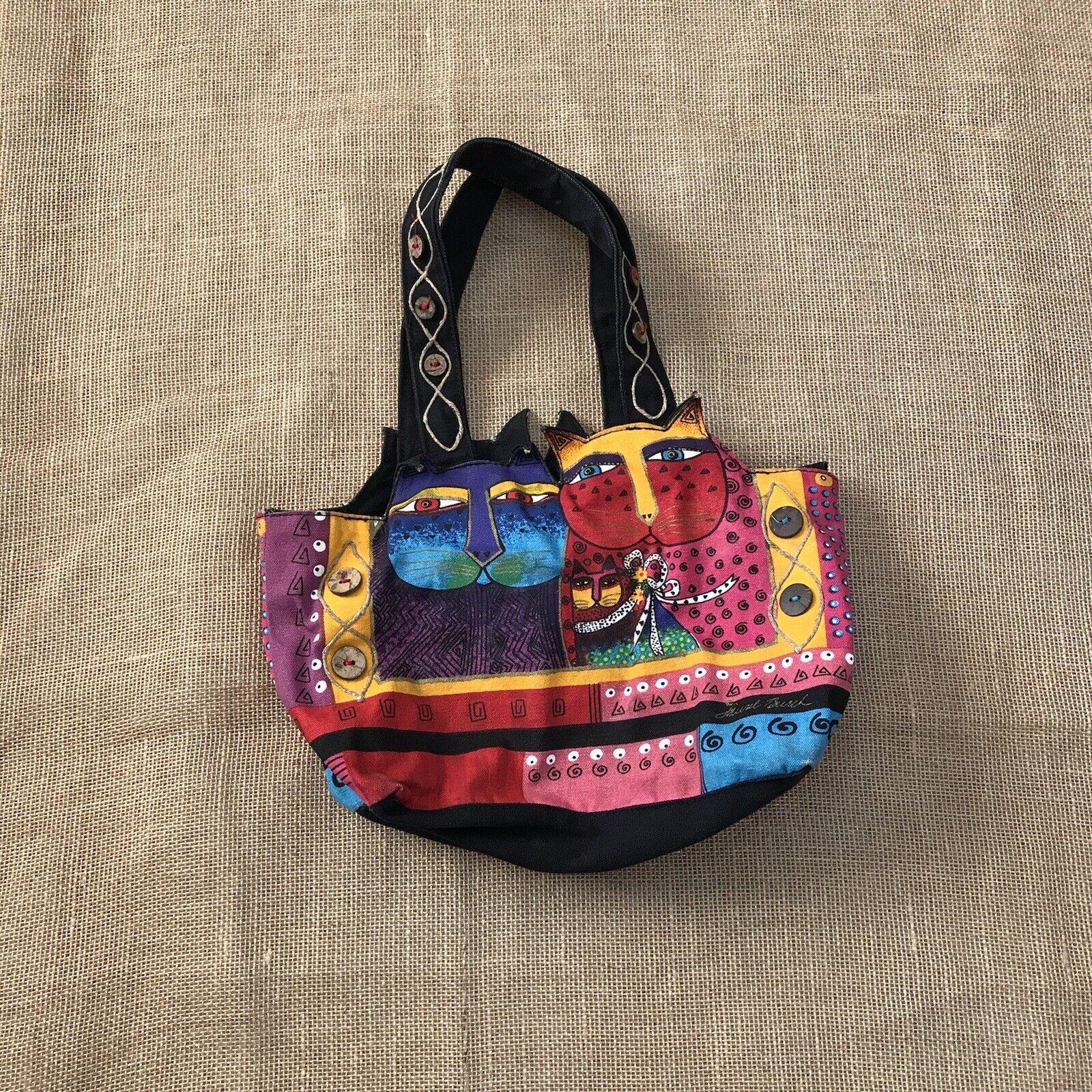 Laurel Burch Feline Cat Hand Bag Shoulder Bag Zip… - image 10