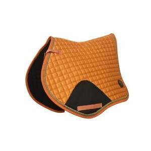 Crystal-Ace-Equestrian-Horse-Quilted-Saddle-Pad-Numnahs-Orange-Saddlecloth-Satin