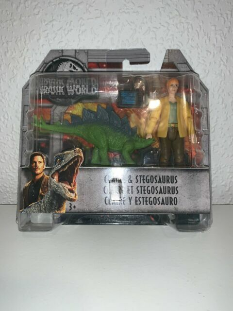 Mattel FMM06 Jurassic World Basic Figure Claire and Stegosaurus Huge Saving