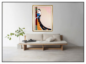Lillian-Shao-Original-Acrylic-Painting-On-Canvas-Signed-Female-Portrait-Large