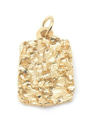 Pendant Gold Plated Nugget Charm Cubic Zirconia 1//2 OZ For Necklace Chain Gift