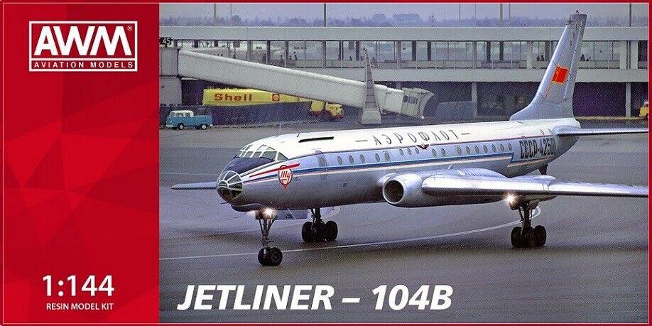 1 144 AWM-models Tupolev Tu-104 B AEROFLOT SSSR OLD  model kit