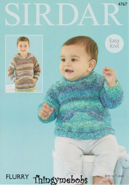 Knitting Pattern Childrens Easy To Knit School Sweater Jumper Sirdar
