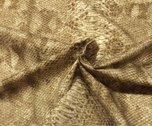 """WAVERLY SECOND SKIN SIENNA D4110 BROWN SNAKE SKIN PRINT FABRIC BY THE YARD 54/""""W"""