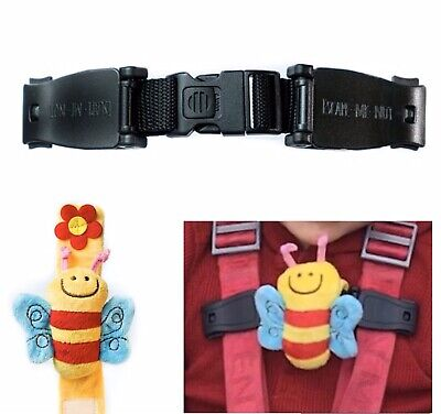 Anti Escape System Houdini Strap Safety Chest Clip Car Seat Pushchairs Highchair