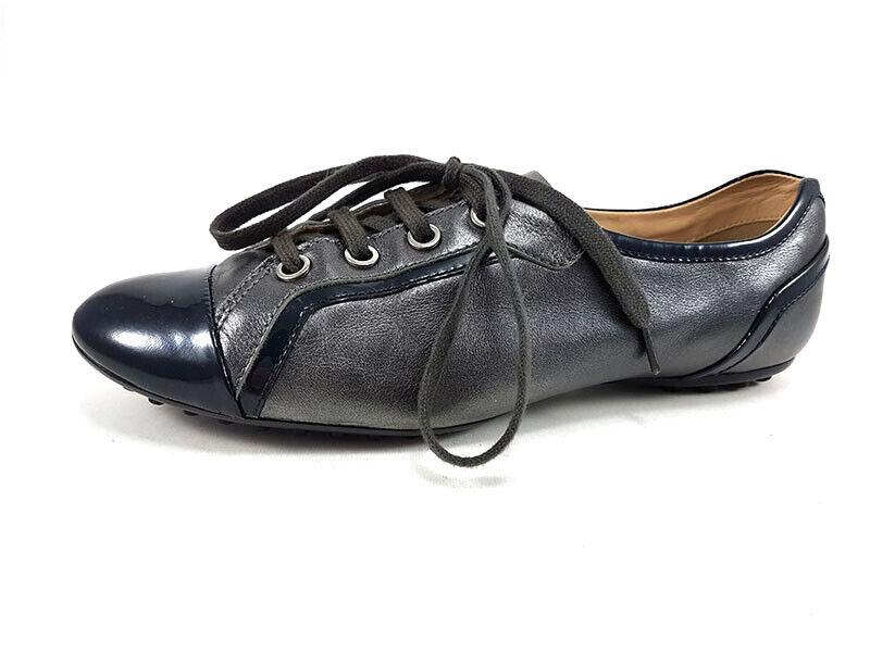 Tod 'S Gris Cuir Chaussures à Lacets, pour Femme Chaussures Taille US 7 / Ue 37
