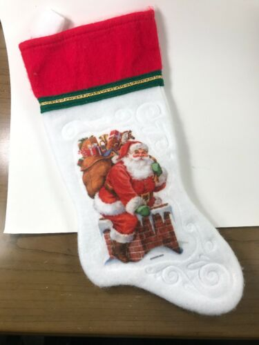 Vintage Santas Best Christmas Stocking Santa In A Chimney