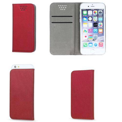 Funda para OnePlus norte libro Bookstyle plegable estuche funda rojo
