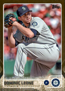 2015 Series 1 Dominic Leone #d 640/2015 Gold Parallel Insert PWE Mariners #49