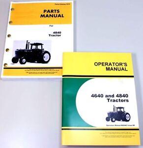 operator parts manuals for john deere 4840 tractor owner catalog rh ebay com John Deere 4955 John Deere 4455