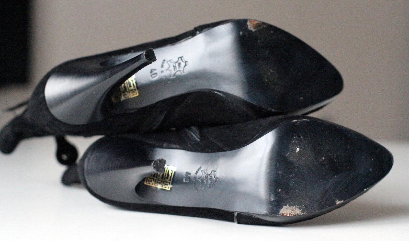 Karen Millen Noir en en en Cuir Véritable Talon Aiguille En Daim Bout Pointu Bottines EU40   Belle Et Charmante  95c126
