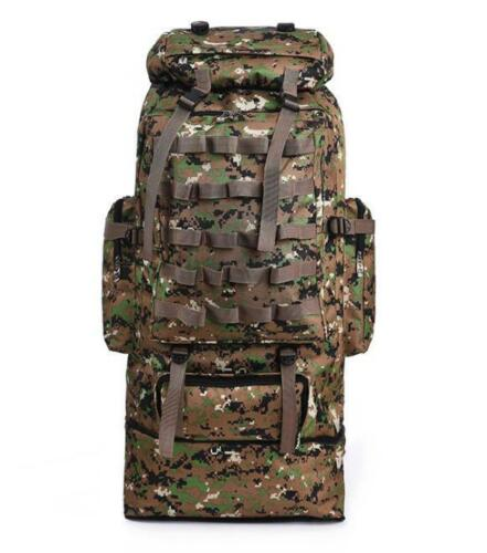 Hot 100L Large Capacity Outdoor Mountaineering Backpack Camping Hiking Military