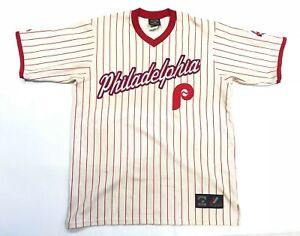meet 504e9 71c44 Details about Vintage 90's Majestic Cooperstown MLB Philadelphia Phillies  Baseball Jersey XL?