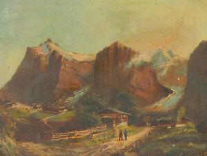 G-Gassed-1897-Oil-Figures-in-a-Landscape